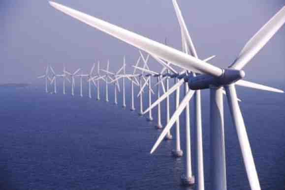 Offshore wind farm. european power generation projects