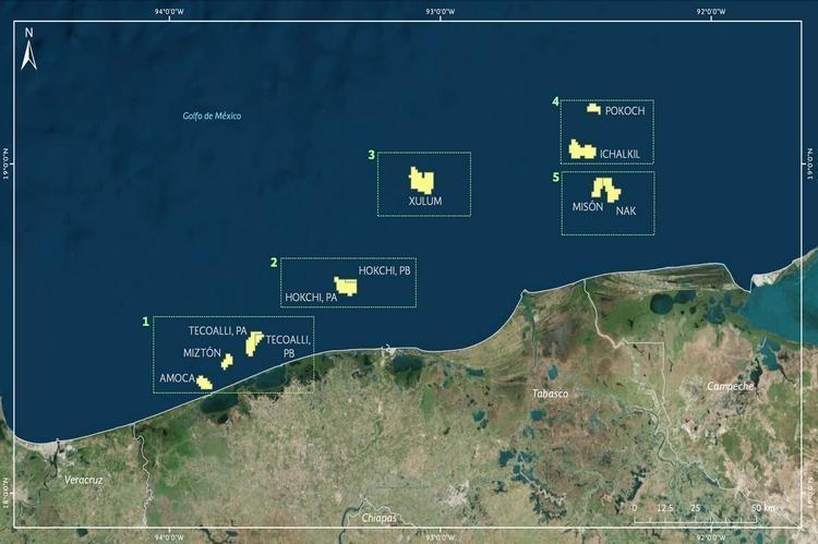 amcoa. eni. mexico. offshore oil and gas fields.