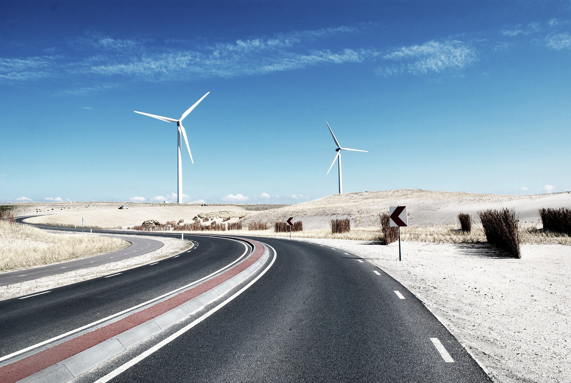 Capital projects and contracts header wind turbine road web